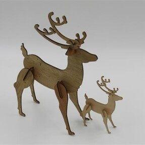 Laser wood model cutting – cutting a deer