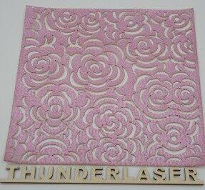 Laser fabric cutting – rose Decorative pattern