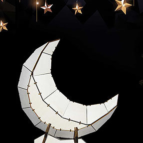 laser cutting design-How to make a 3D moon