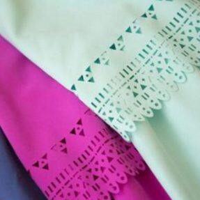 A laser cutting machine makes a variety of clothes